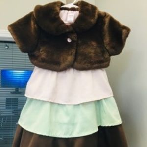 Gymboree Dress with Faux Fur Wrap